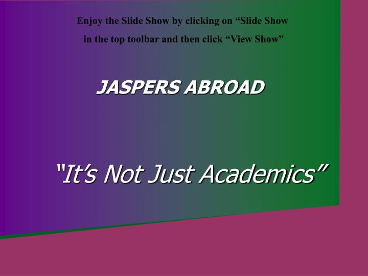It s not just academics