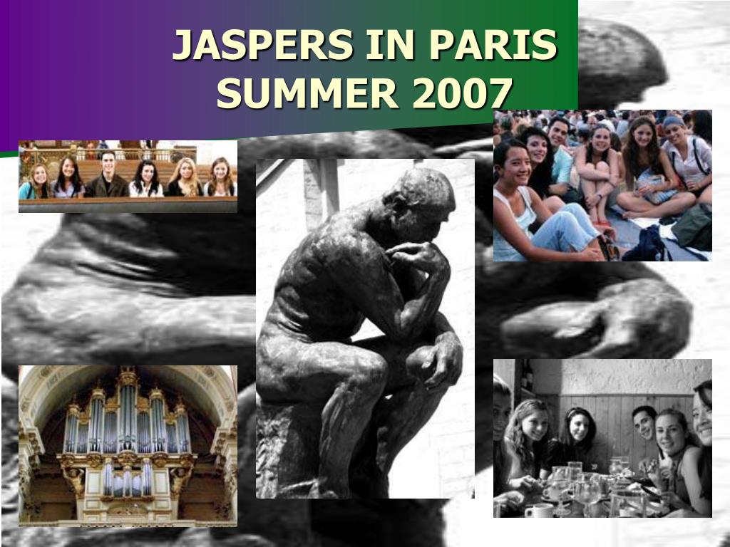 JASPERS IN PARIS