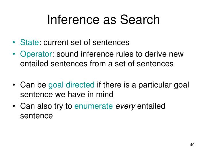 Inference as Search
