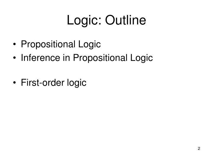 Logic: Outline
