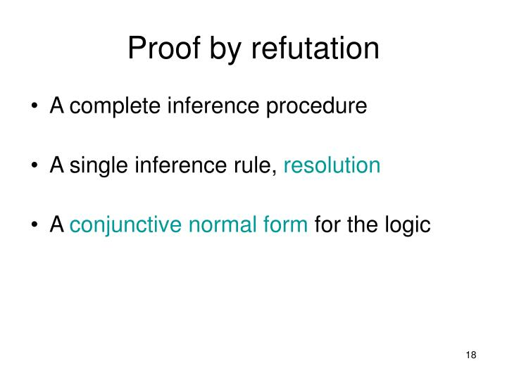 Proof by refutation