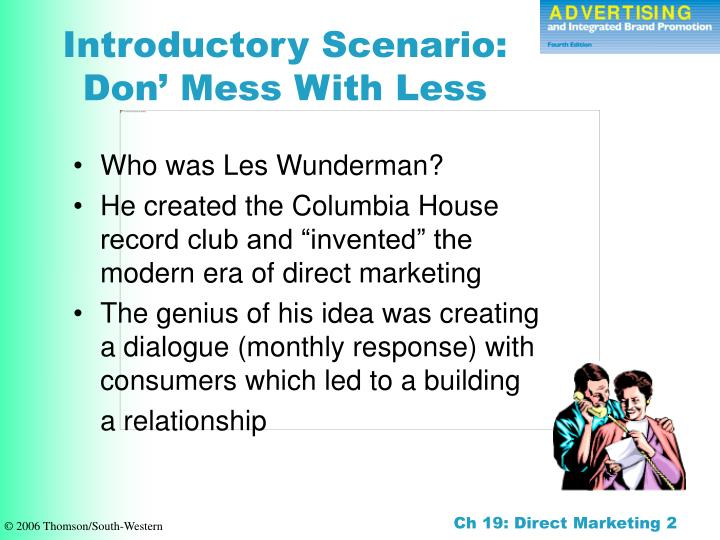 Introductory scenario don mess with less