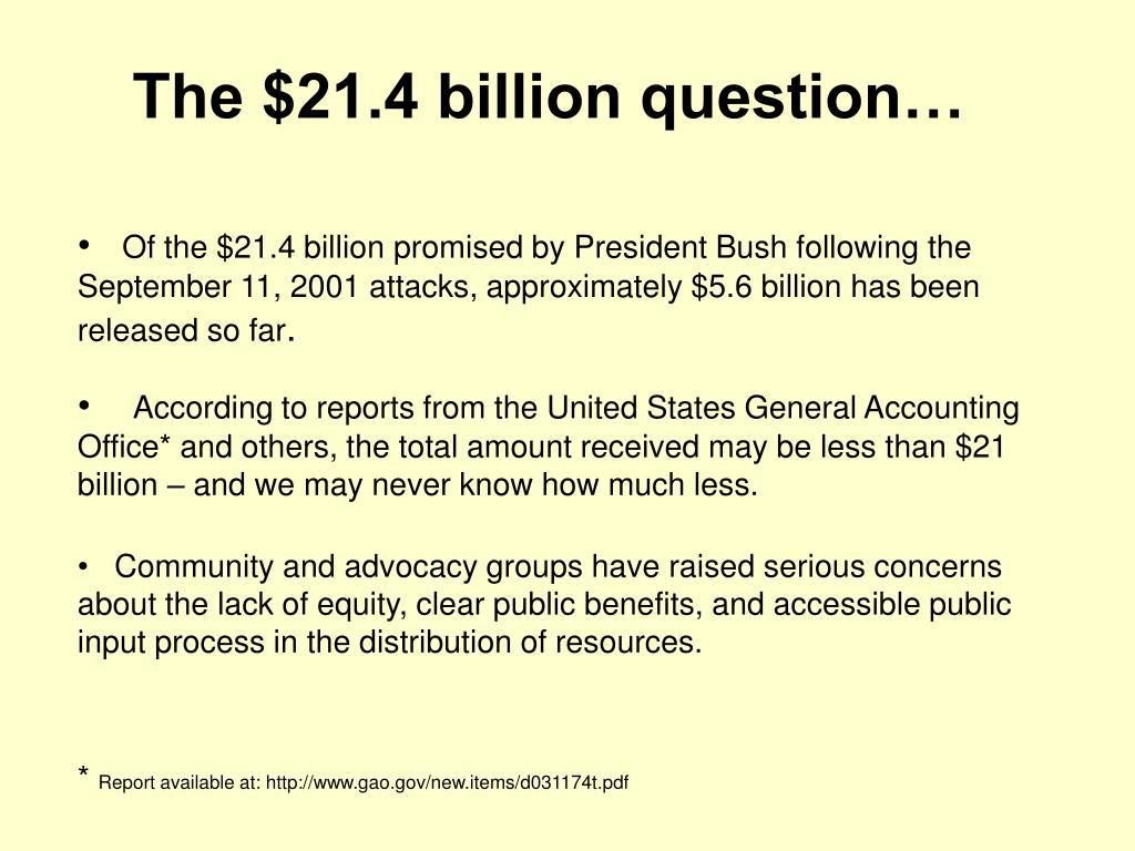 The $21.4 billion question…