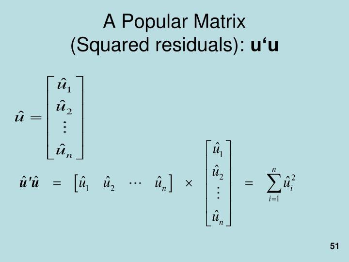 A Popular Matrix