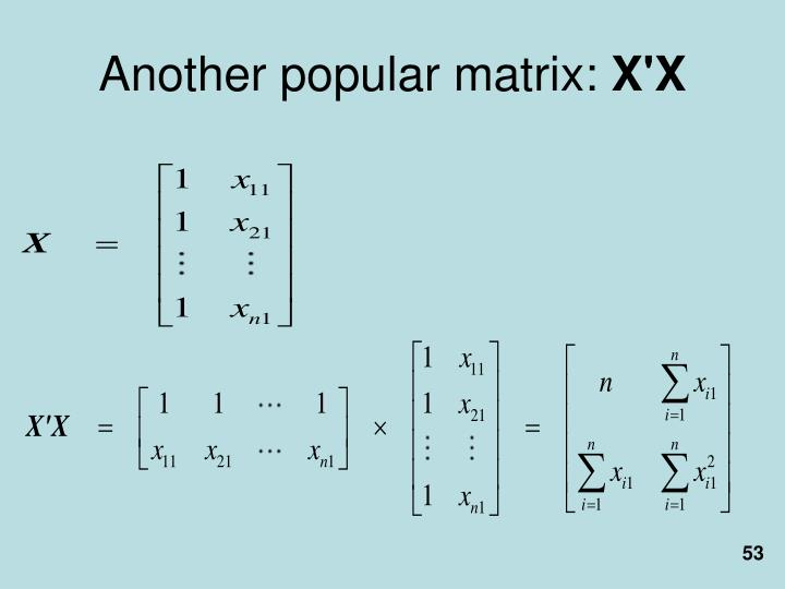Another popular matrix: