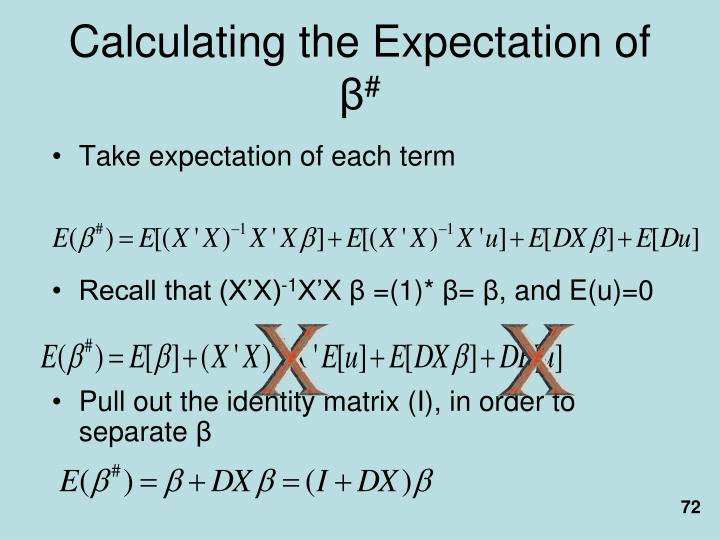 Calculating the Expectation of
