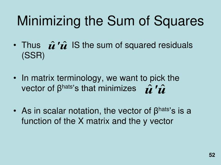 Minimizing the Sum of Squares