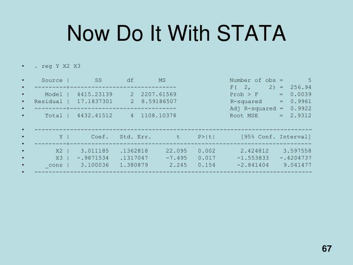 Now Do It With STATA