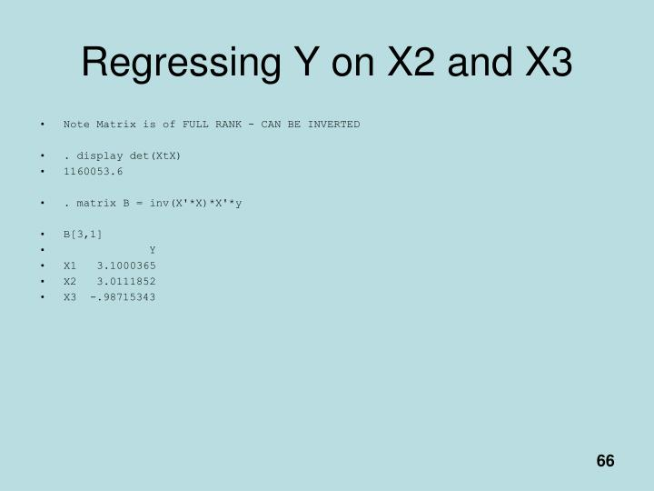 Regressing Y on X2 and X3