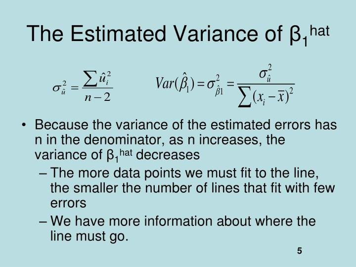 The Estimated Variance of