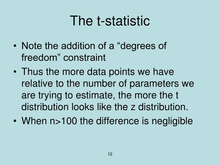 The t-statistic