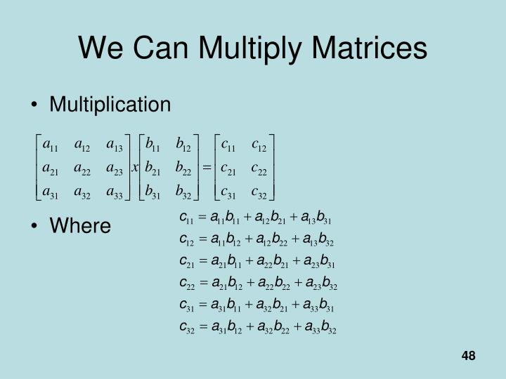 We Can Multiply Matrices