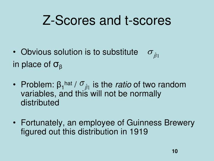 Z-Scores and t-scores