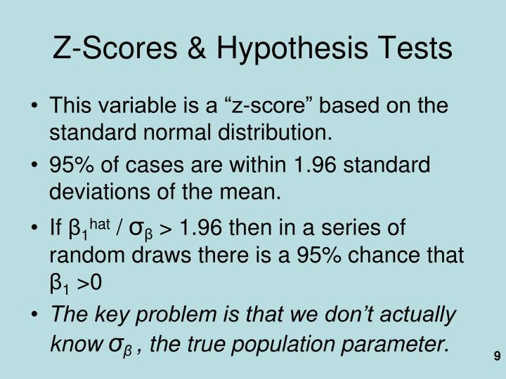Z-Scores & Hypothesis Tests