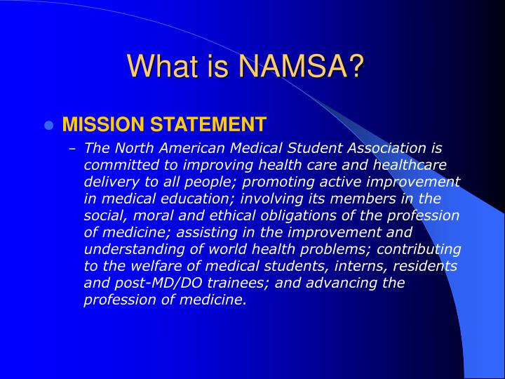 What is NAMSA?