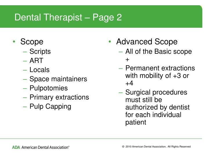 Dental Therapist – Page 2