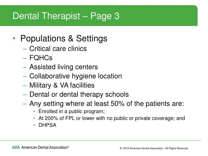 Dental Therapist – Page 3