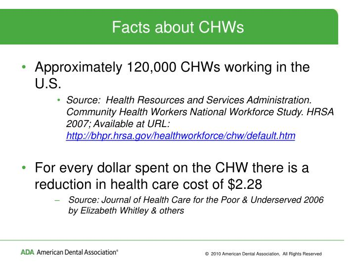 Facts about CHWs