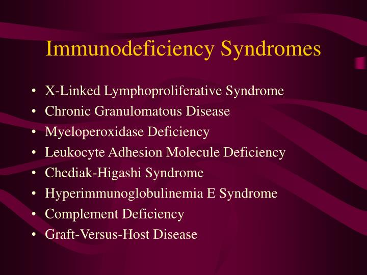 Immunodeficiency Syndromes