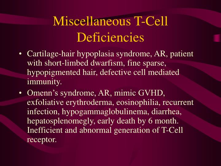 Miscellaneous T-Cell Deficiencies