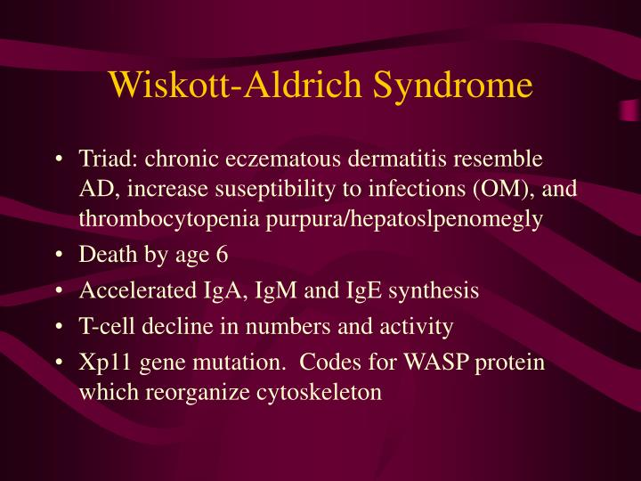 Wiskott-Aldrich Syndrome