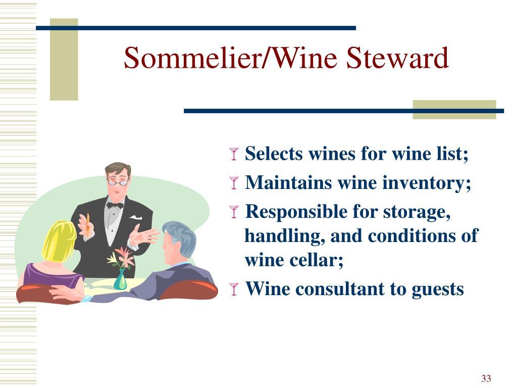 Sommelier/Wine Steward