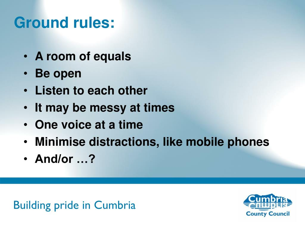 Ground rules: