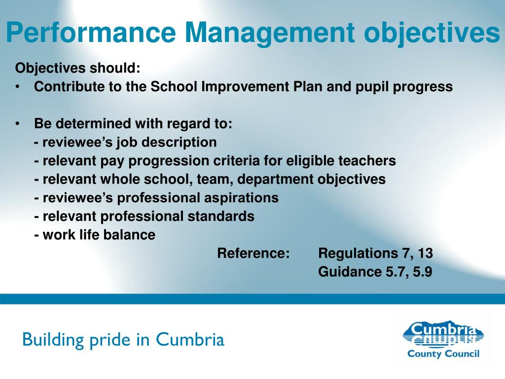 Performance Management objectives