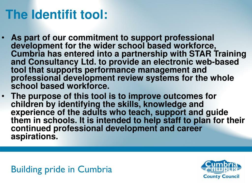The Identifit tool: