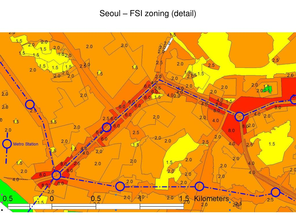 Seoul – FSI zoning (detail)