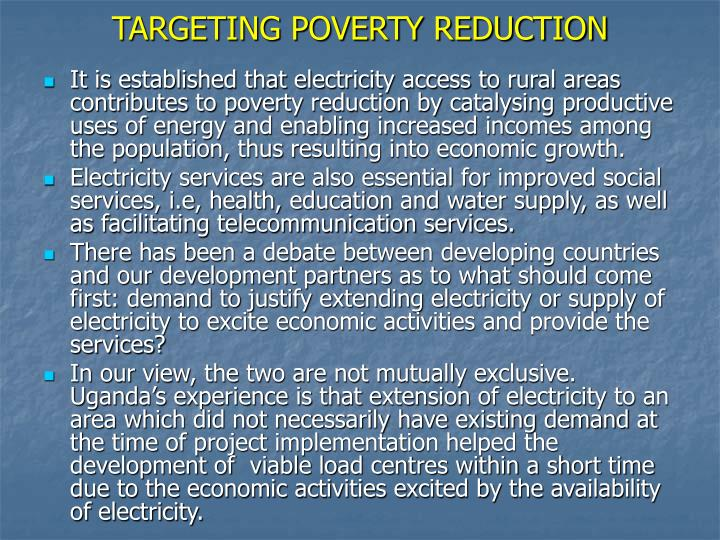 TARGETING POVERTY REDUCTION
