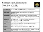 consequence assessment tool set cats