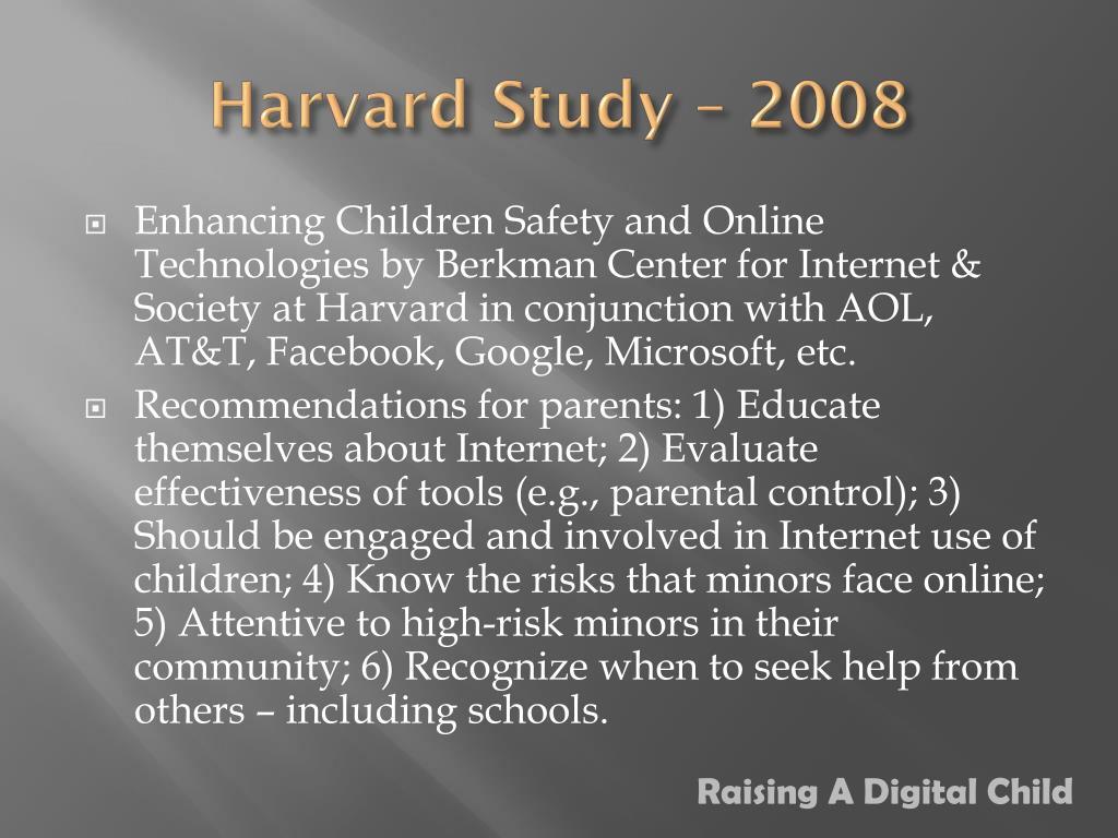 Harvard Study – 2008