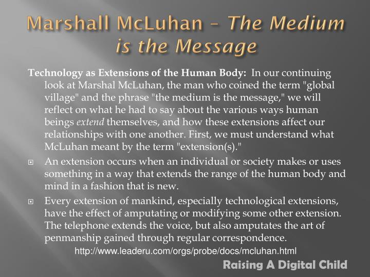 Marshall mcluhan the medium is the message