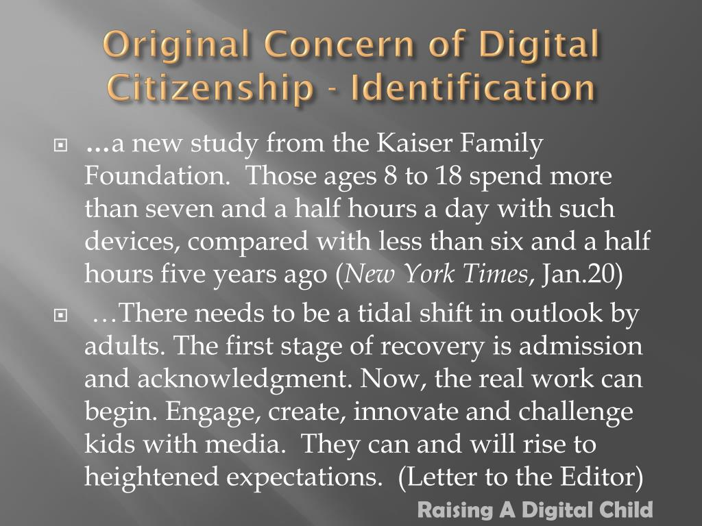 Original Concern of Digital Citizenship - Identification