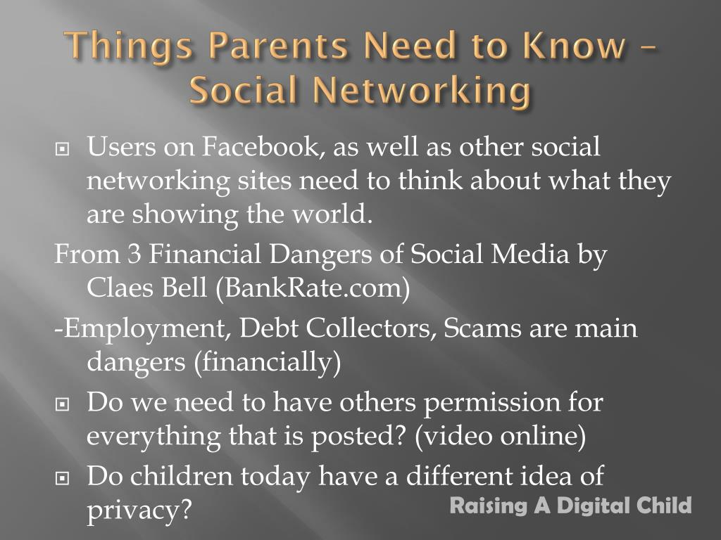 Things Parents Need to Know – Social Networking