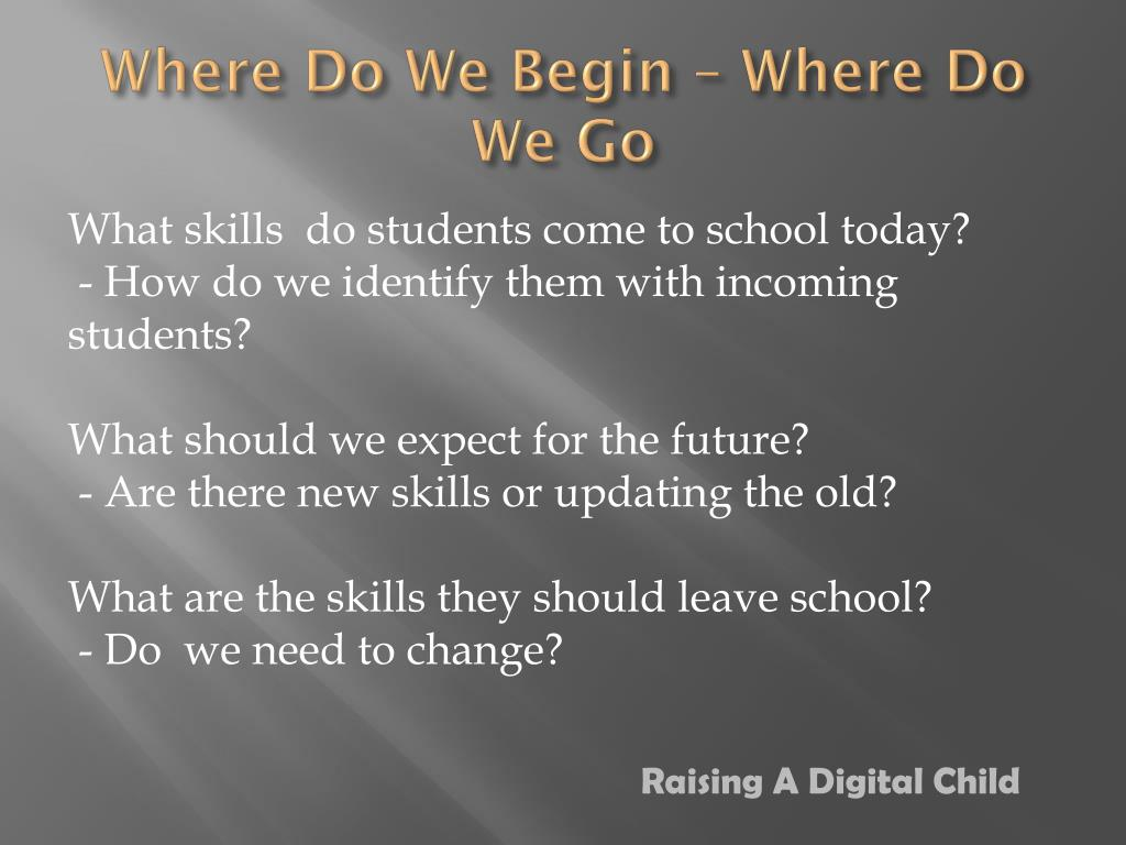 Where Do We Begin – Where Do We Go