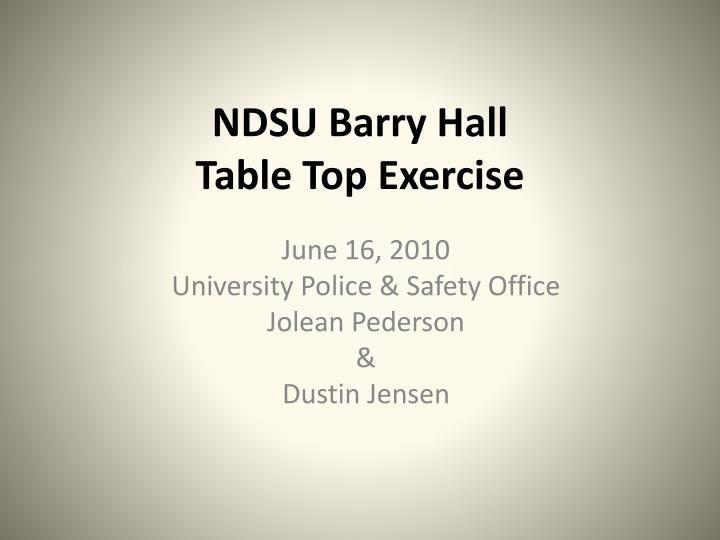 NDSU Barry Hall