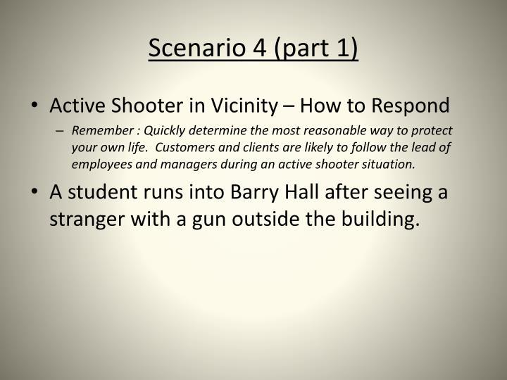 Scenario 4 (part 1)