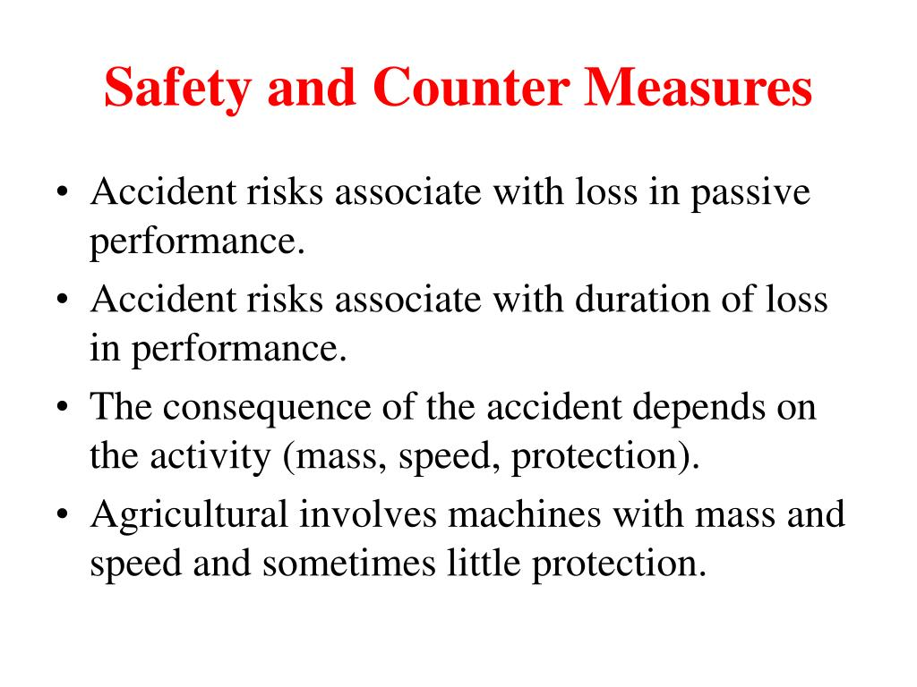 Safety and Counter Measures