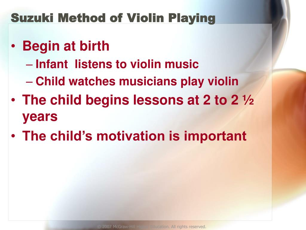 suzuki method Looking for the best violin lessons and best piano lessons in south florida america's suzuki music academy has provided children of all ages in south florida with the best violin and piano lessons since 1985.