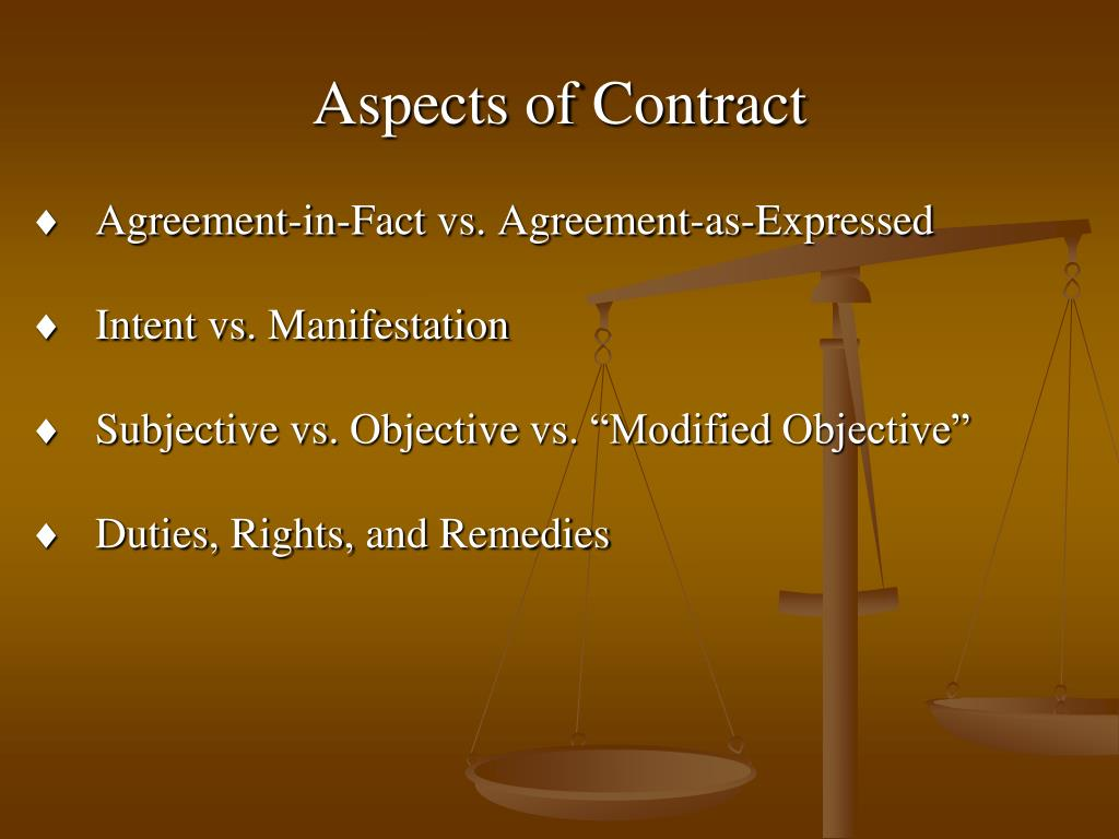 Aspects of Contract