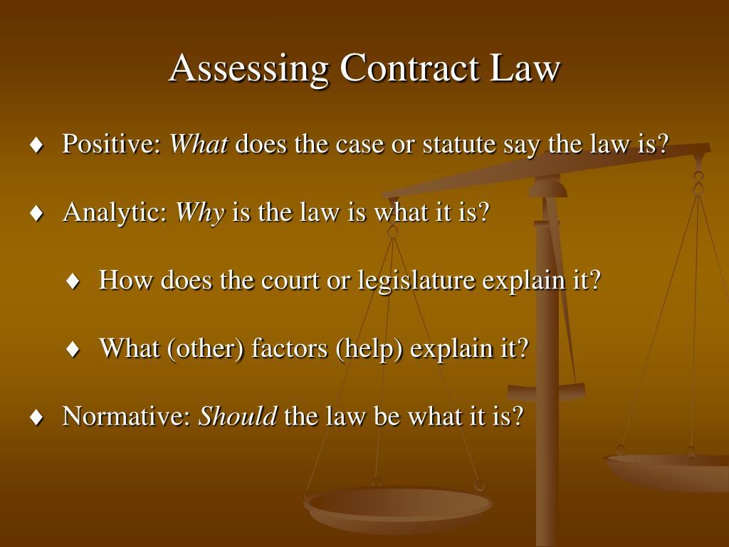 Assessing Contract Law