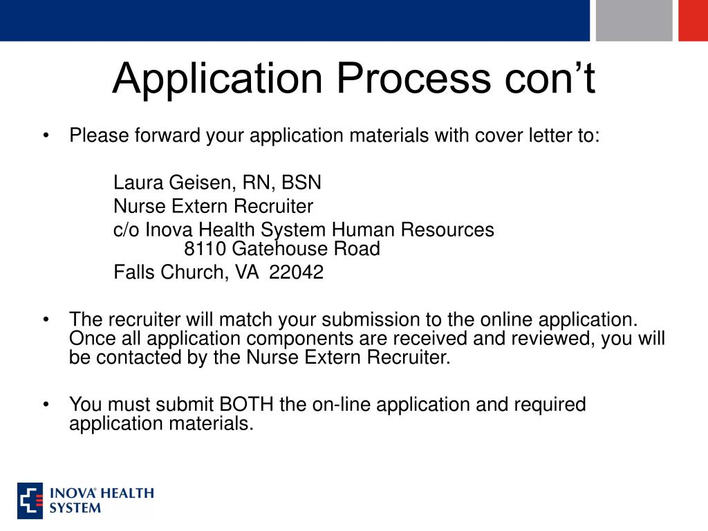 Application Process con't