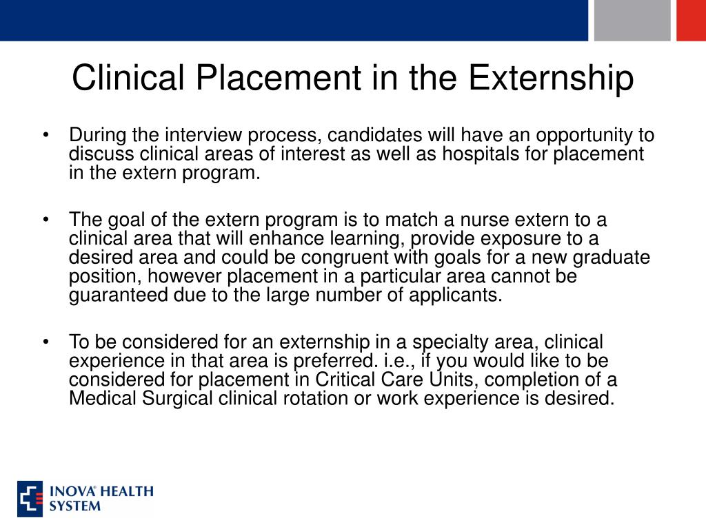 Clinical Placement in the Externship