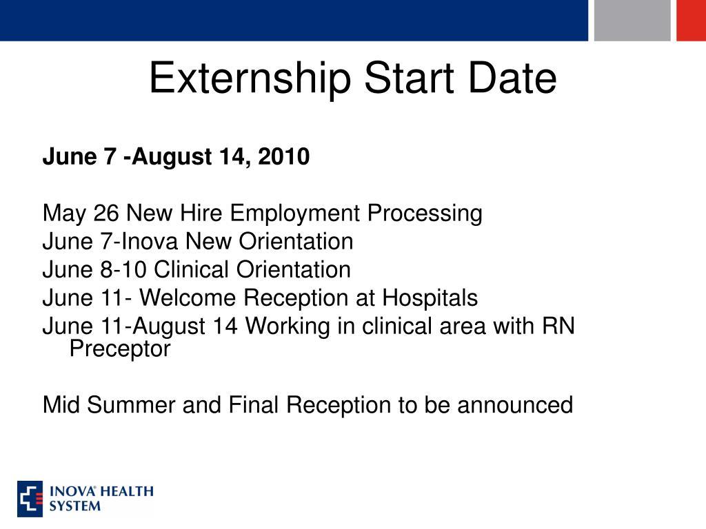 Externship Start Date