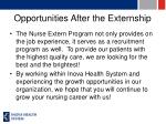 opportunities after the externship