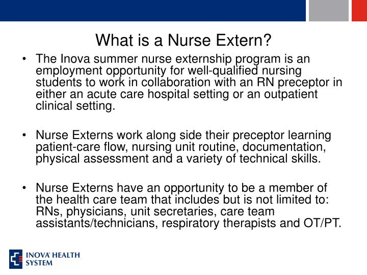 What is a nurse extern
