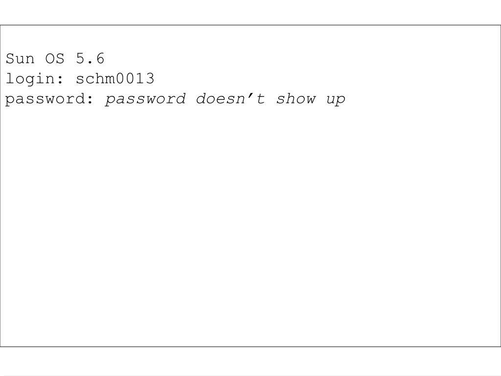 Sun OS 5.6