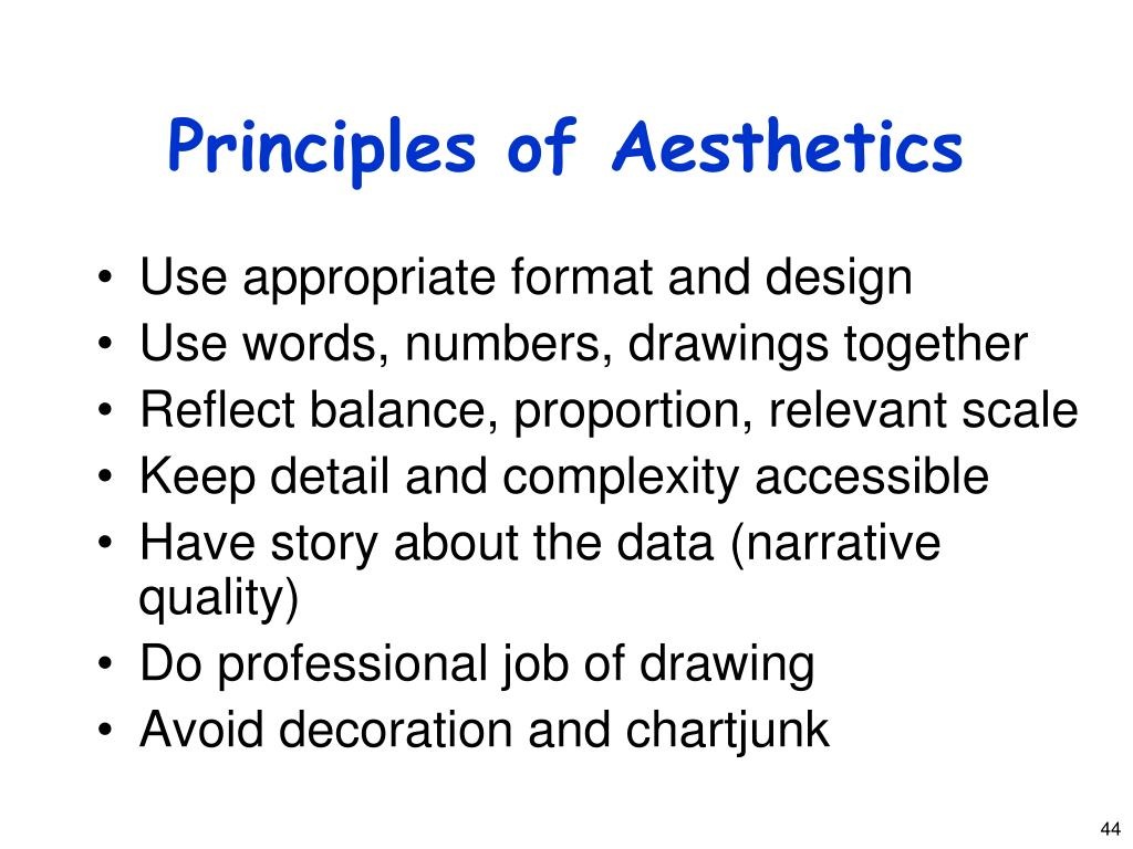 Principles of Aesthetics